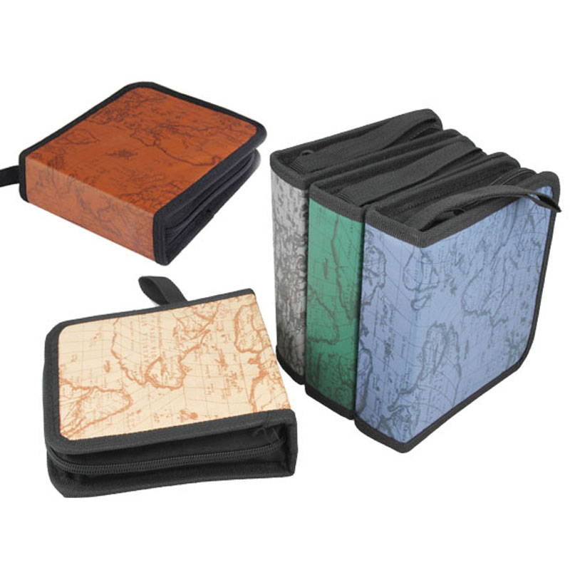 40disc CD case DVD Disc Storage Holder Carry Organizer Case CD box Wallet Cover Protect Bag Box CD Cases color by random