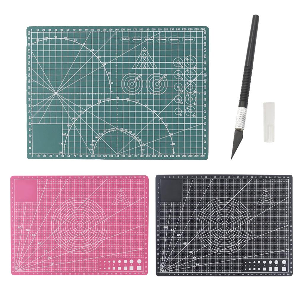 A4 Sewing Cutting Mat Double-Sided Engraving Cut Design Plate Handmade Tool Kit 30 X 22CM