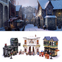 Harry Potter The Diagon Alley Set Building Blocks DIY Bricks Model Toys for children legoinglys 10217 Movie series