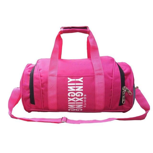 Large Mens Sports Bags For Traveling Training Fitness Gym bag Waterproof  Duffel Bag Pink Shoulder Bag Handbags e3ea6c41b6e20