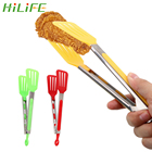 HILIFE Salad Serving BBQ Tongs Non-Stick Kitchen Tongs Stainless Steel Handle Utensil Silicone Pizza Bread Steak Clip