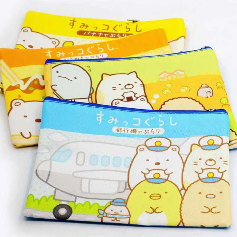 1 Pcs Kawaii A5 Cartoon Sumikko Gurashi Document Bag Stationery Corner Creature Zipper File Folder Document Filing Bag Gifts
