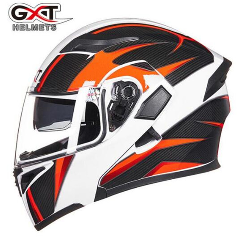 GXT Flip Up Motorcycle Helmet Motos Casco Capacete Modular Helmets With Inner Sun Visor Safety Double Lens Racing Helmets no2 free shipping bluetooth helmet for phone motorcycle helmet roadcross double visors racing helmets with sunny lens s m l xll