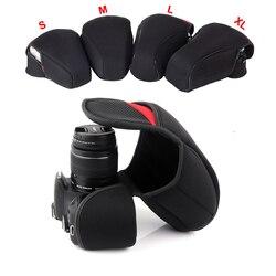 DSLR Камера внутренняя мягкая сумка чехол для Canon 200D 800D 1200D 600D 750D 700D 100D 1300D 80D 760D 1500D 550D 1100D 650D 7DMII 5D3 6D