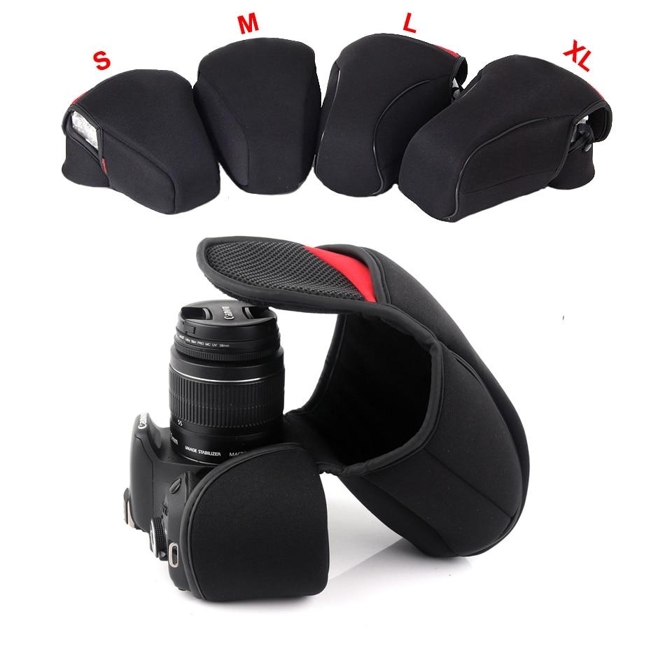 DSLR cámara interior suave funda bolsa para el Canon 200D 800D 1200D 600D 750D 700D 100D 1300D 80D 760D 1500D 550D 1100D 650D 7 DMII 5D3 6D