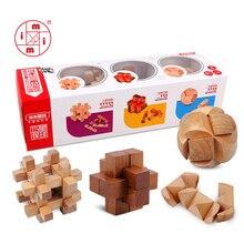 Mitoys 3 шт./компл. 3D деревянные головоломки для детей и взрослых деревянные головоломки iq Головоломка Развивающие игрушки для детей интеллектуальные игры