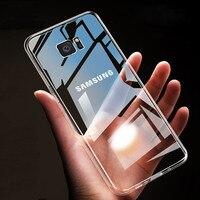 Funda transparente para Samsung Galaxy S7 edge S8 s9 s10 lite Note 2 3 4 5 8 9 A6 A7 A8 A9 J4 J6 Plus J8 2018, funda transparente de TPU suave