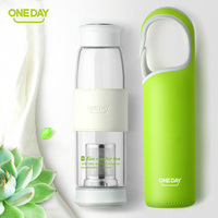 Oneday SB60133 480ml Portable Cup Stainless Steel Mug With Cover Glass Cups And Tea Drinking Cup