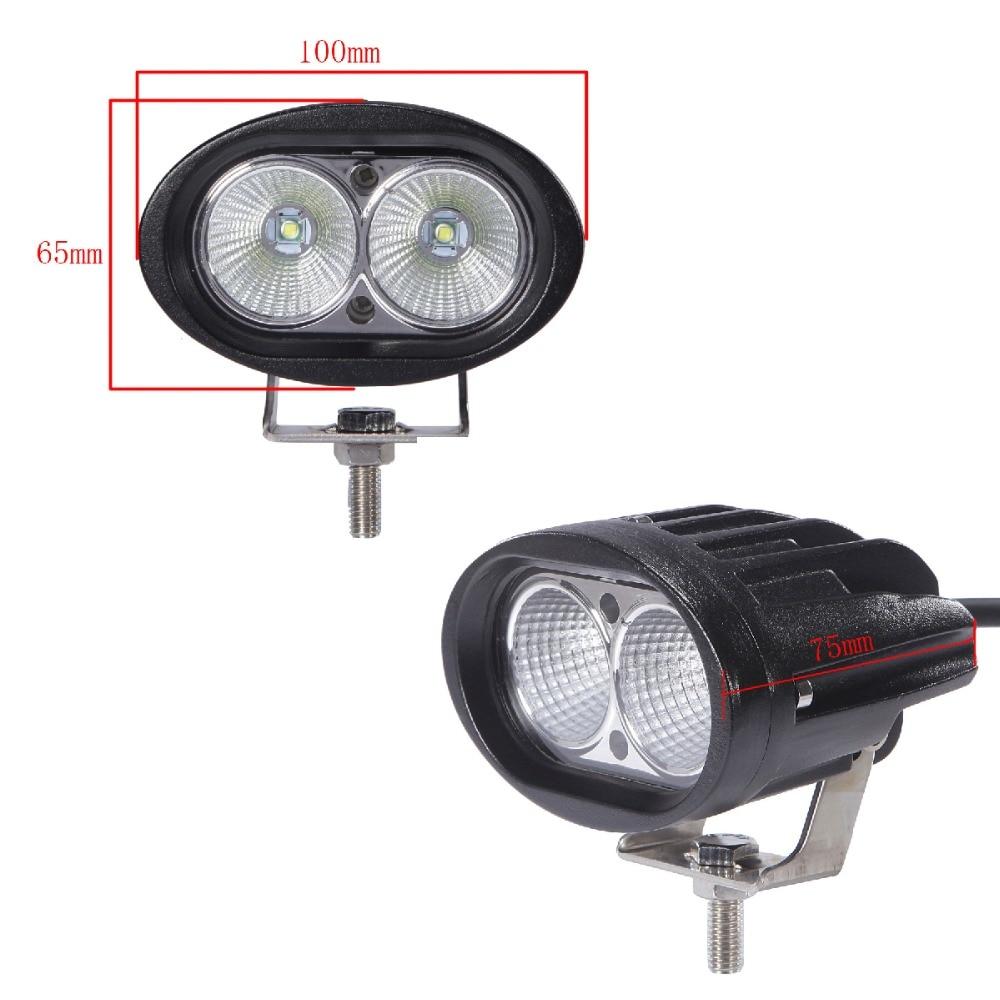 20W Oval LED Light Work Work Offroad Car Auto Auto Camion ATV - Faruri auto - Fotografie 3