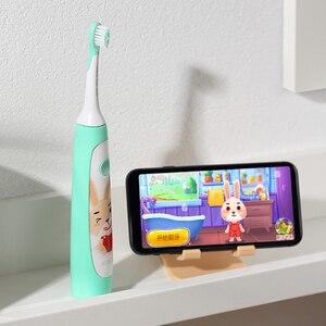 Image 2 - SOOCAS سونيك فرشاة أسنان كهربائية للأطفال IPX7 مقاوم للماء الأطفال فرشاة الأسنان فرشاة الأسنان الكهربائية القابلة لإعادة الشحن 2 وضع التنظيف
