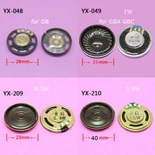 ChengHaoRan-altavoz avanzado de 23mm y 40mm para juegos, 1 pieza, 4 modelos a elegir, para GBC, GBA, piezas de repuesto de vídeo