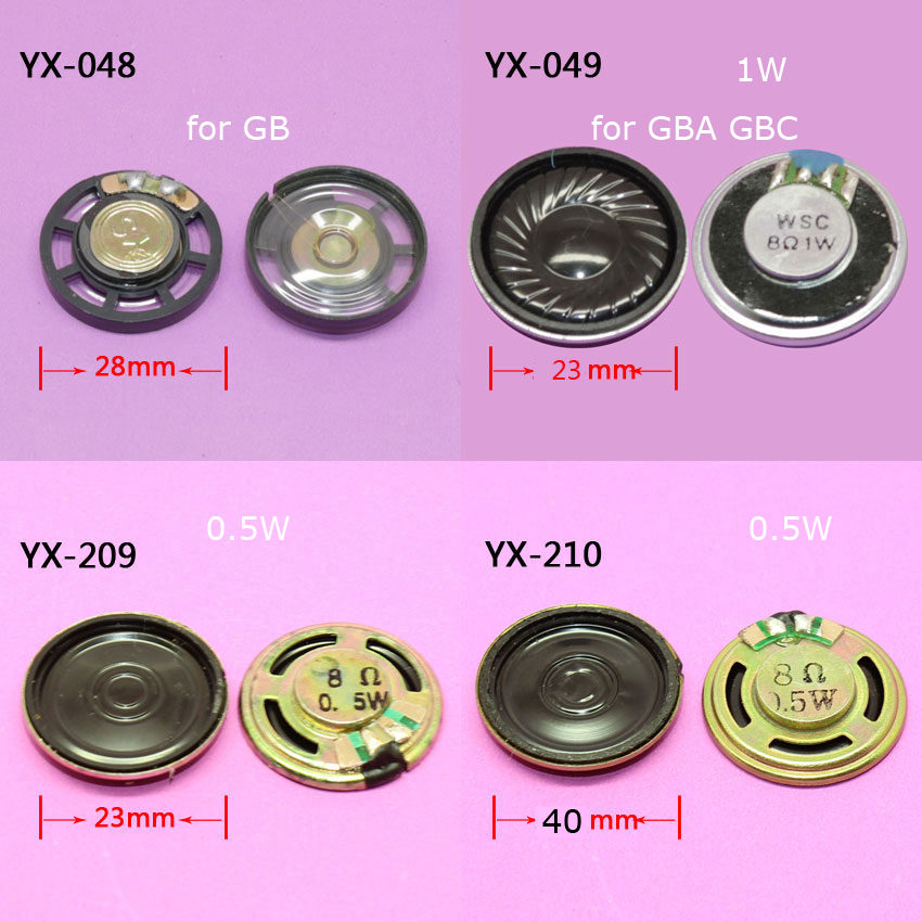 ChengHaoRan 1pc 4 Models To Choose 23mm 40mm For GAME BOY COLOR ADVANCE SPEAKER For GB GBC GBA Replacement Repair Parts Video