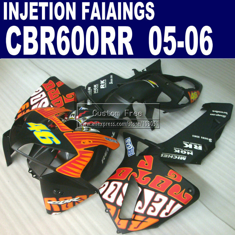 Injection fairings for Honda Rossi Limited edition CBR 600 RR fairing CBR600RR 2005 2006 05 06 matte black  bodykits new mf8 eitan s star icosaix radiolarian puzzle magic cube black and primary limited edition very challenging welcome to buy