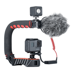 Image 5 - Ulanzi U Grip Pro Video Action Stabilizing Handle Grip with 3 Shoe Mounts for iPhone DSLR Cameras Camcorders GoPro Hero 7 6 5