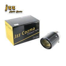 Jzz Cozma universal 2.64 in car exhaust pipe 3.5/4/4.5 outlet carbon fiber muffler tip with clamp cool package free shipping