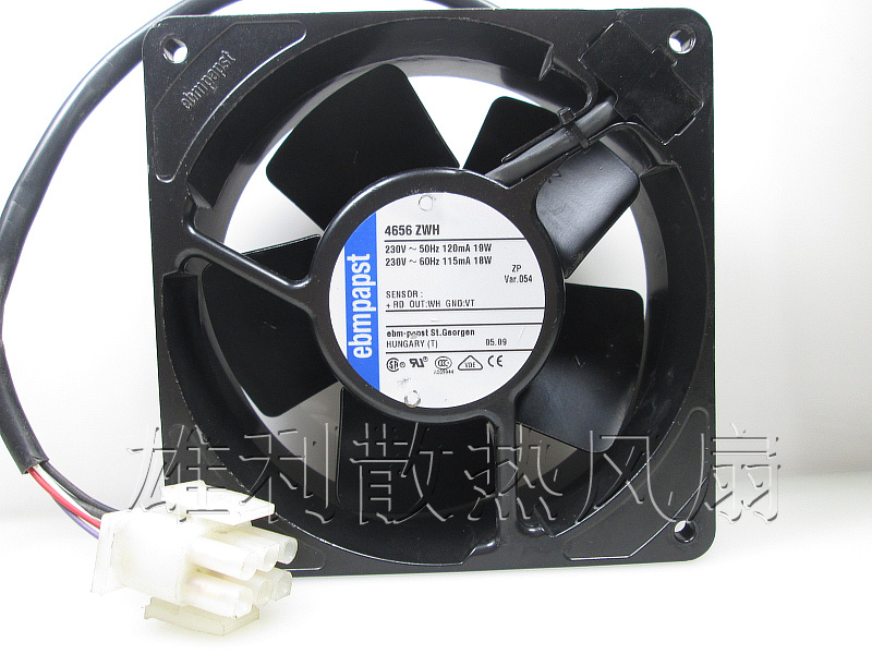 Original EBM Papst 4656 ZWH 230V AC 120*120*38MM 12cm full metal temperature cooling fan ebm papst 4800z 4800 z ac 115v 0 16a 0 14a 13w 12w 120x120x38mm server square fan