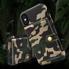 Новая Мода Военная Униформа армия камуфляж искусственная кожа слот для карт держатель кошелек чехол для телефона чехол iPhone X/XS Max/XR 8/7 Plus