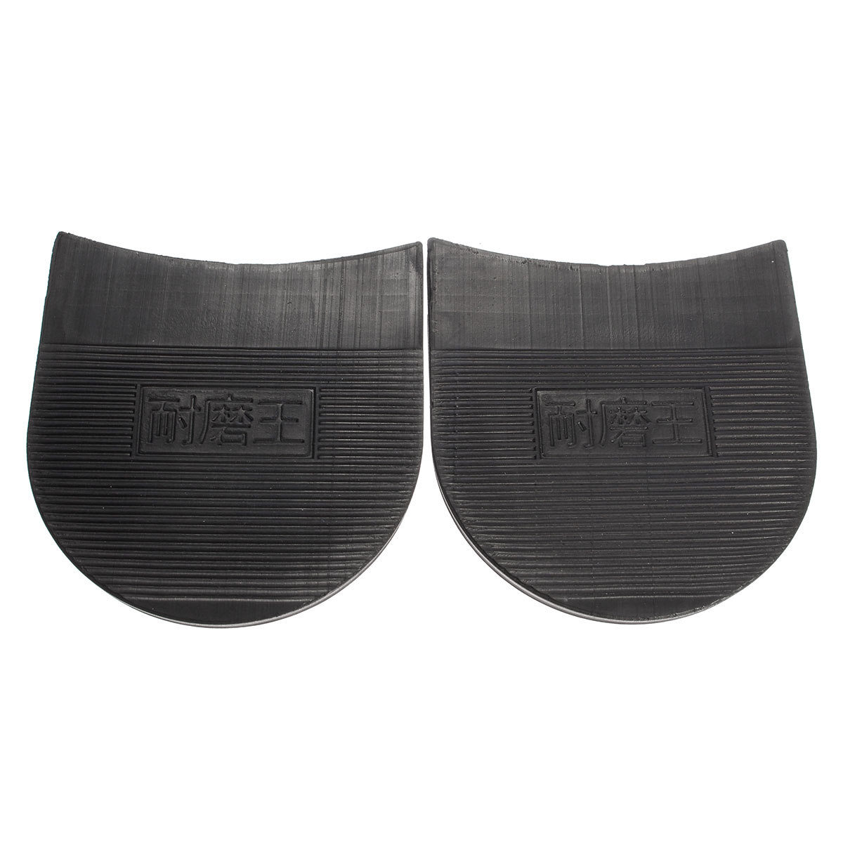 1 Pair Rubber Shoe Soles, Mens Self-Adhesive DIY Stick On Shoes Sole, Anti-Slip Black Hard-Wearing Mat Insoles Pads Sticker