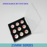 25MM Badge Series Gift Box Plastic Packing Box Gift Box Special Badges Empty Boxes 50pcs