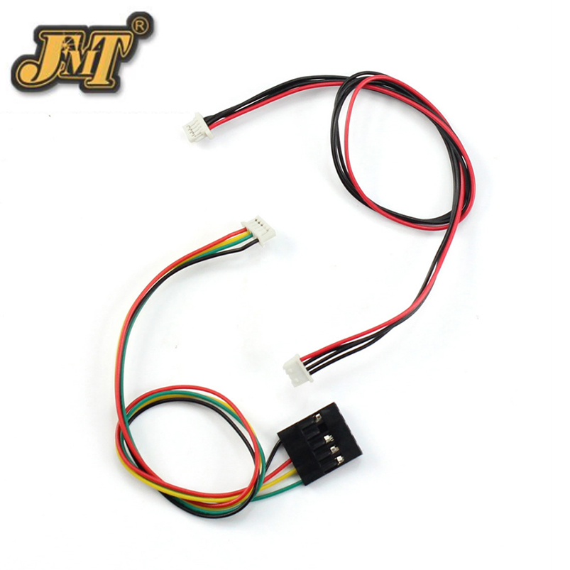 JMT 100pcs 23cm 4p OSD Cable Connector for APM 2.8 2.6 Pixhawk PIX PX4 Flight Controller RC Drone