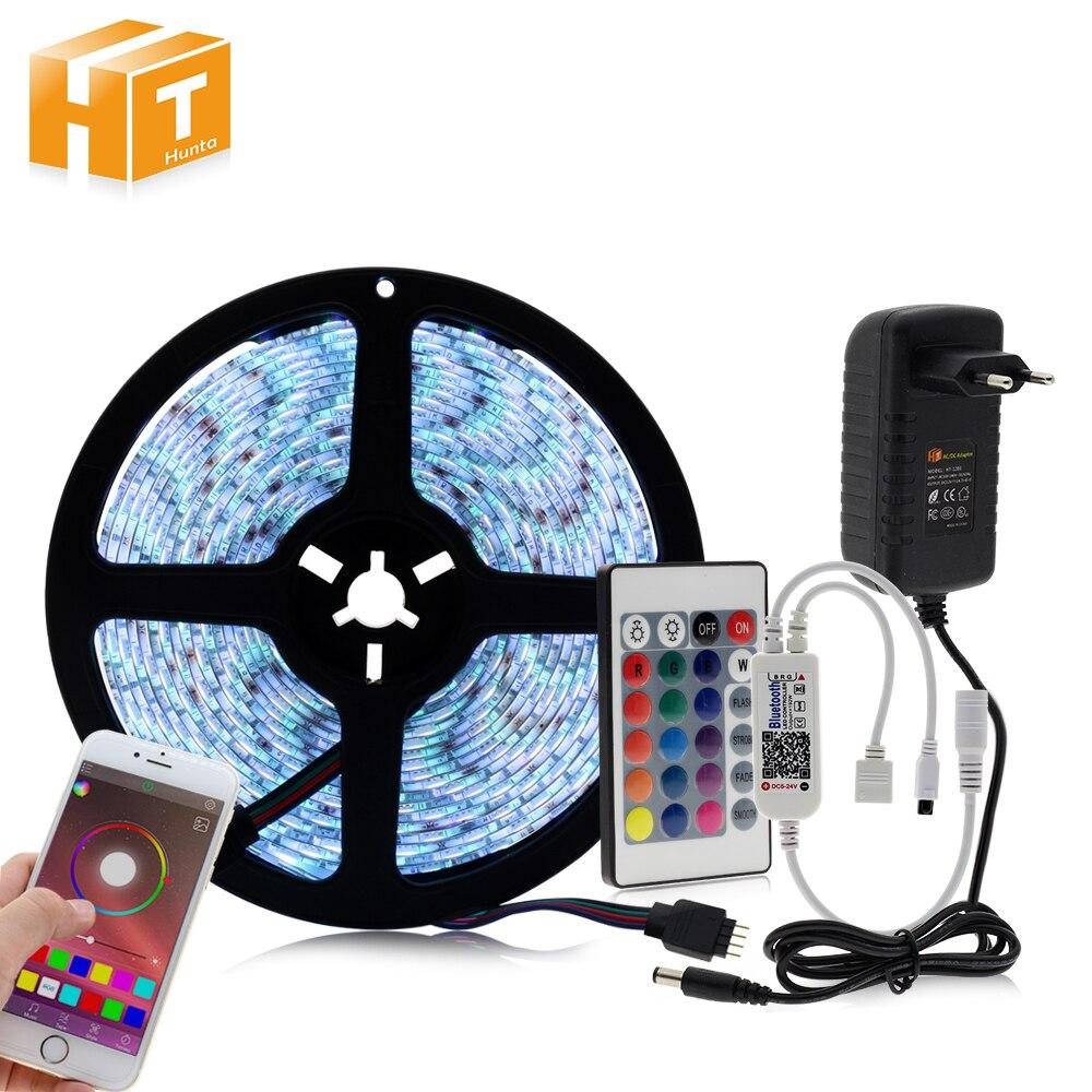 Controller Bluetooth RGB HA CONDOTTO LA Striscia Set 12 v HA CONDOTTO La Striscia 5050 5 m 60LED/m + 24key Controller Bluetooth + Adattatore di alimentazione