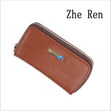 smart wallet Men real leather money wallet Head layer cowhide intelligent   anti-lost- theft the key packets
