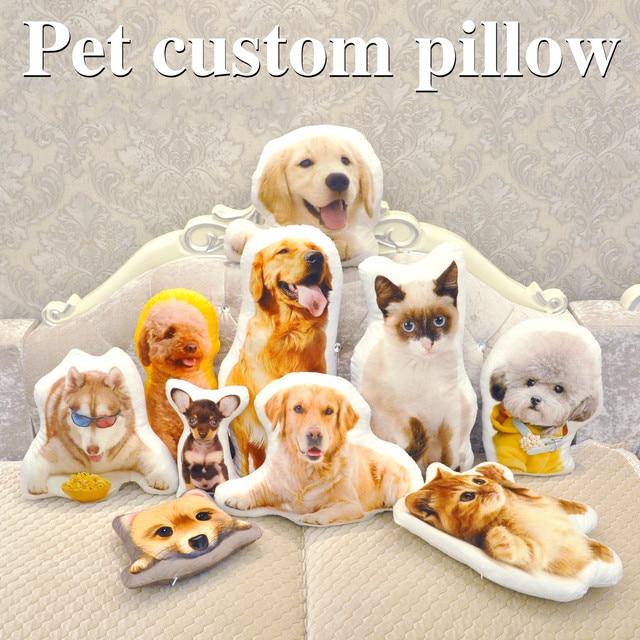Almohada de personalización de fotos, almohada de viaje creativa para mascotas, foto almofada oreiller, sujeción en forma de almohada, decoración de boda, animal, perro