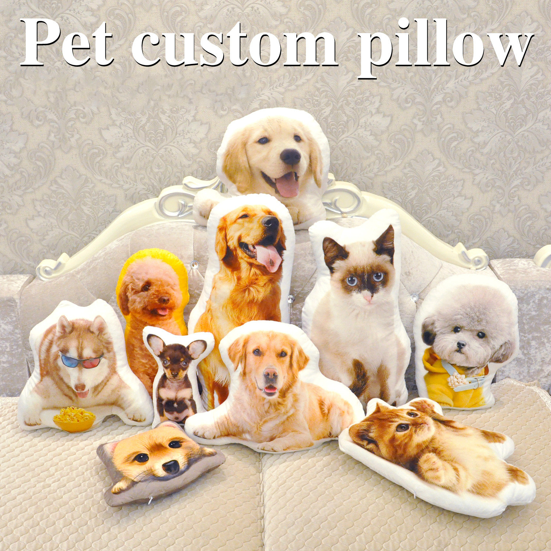 Foto personalização travesseiro criativo pet almofada oreiller hold travesseiro em forma de travesseiro de viagem foto decoração de casamento animal cão