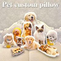 Oreiller de voyage avec décoration de mariage chien, personnalisation de Photo, oreiller de voyage créatif pour animaux, oreiller avec photo almofada
