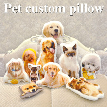 Photo customization pillow creative pet travel photo almofada oreiller hold shaped wedding decoration animal dog
