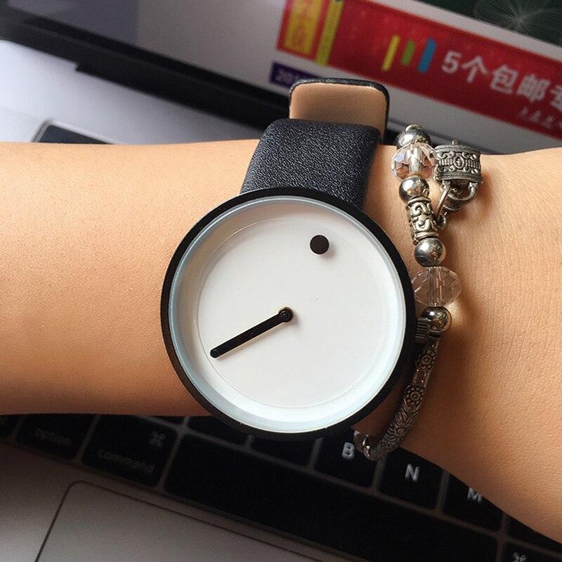 Cool Black &amp White Minimalist Style Wristwatch Bgg Creative Design Dot And Line Simple Stylish Quartz Fashion Watch Gift 2