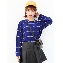 Bts Kpop 2017 Harajuku Fashion Winter Women Stripe Autumn Sweet Cute School Wind Women Female Casual Sweateres