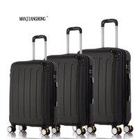20 24 28 3 шт. классический полосатый патч тележка чемодан/прокатки вращающиеся колеса тяга чемодан/девушка traveller случае интернат сумка