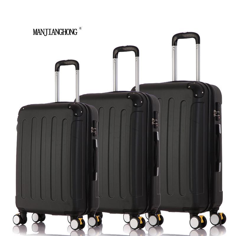 202428 3Piece Classic striped patch Trolley suitcase/rolling spinner wheels Pull Rod luggage/Girl traveller case boarding bag ...