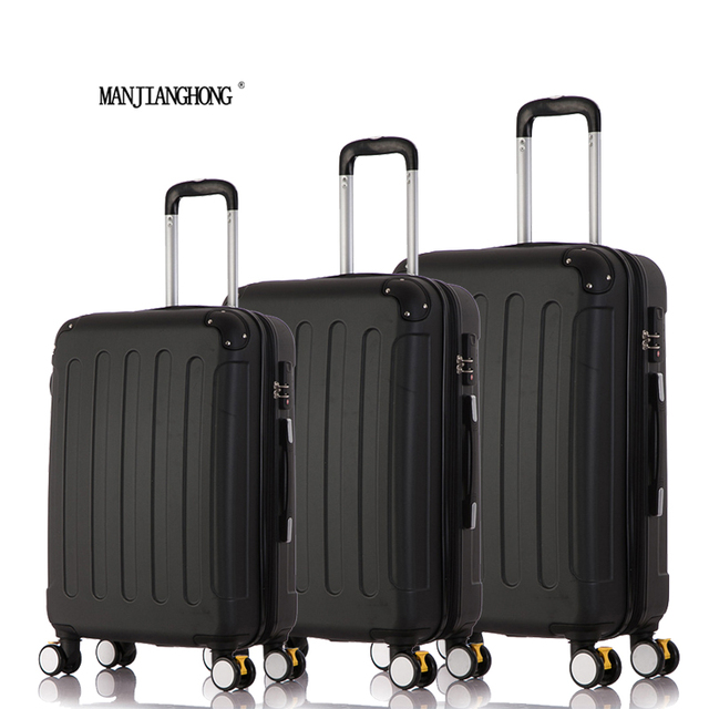 """20""""24""""28"""" 3Piece Classic striped patch Trolley suitcase/rolling spinner wheels Pull Rod luggage/Girl traveller case boarding bag"""