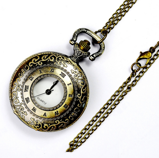 Medium Size pocket watch roman clock style Necklace Vintage old fashion fashion woman Fashion watches Women 2016 new fashion pocket watch unisex necklace clock watch y102596