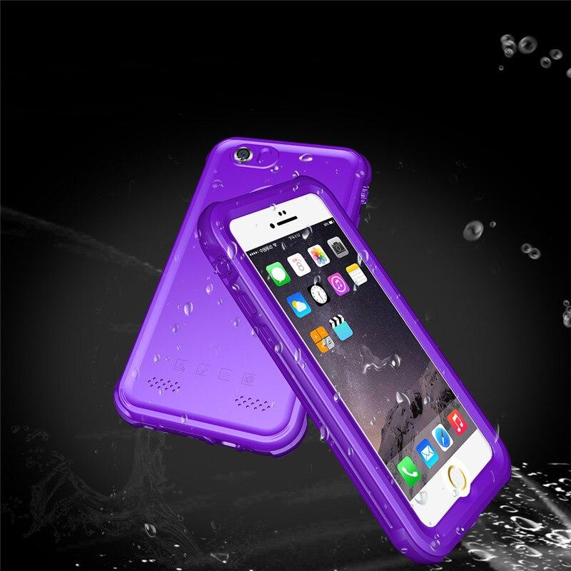 bilder für Für iphone se wasserdichte case stoßfest tpu und pc abdeckung unterwasser touch versiegelt schutz cases für iphone 5 5 s