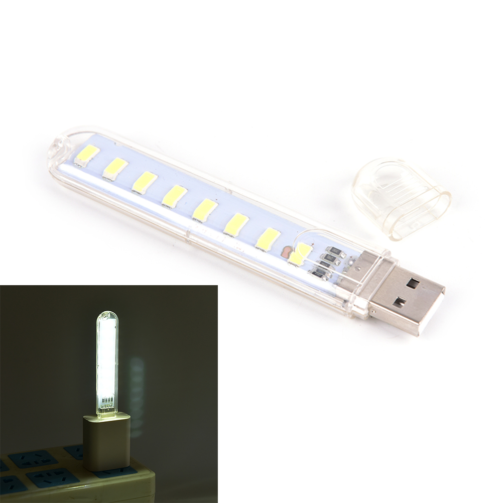 DC5V 8 LED Mini Mobile Power USB LED Lamp Camping Computer Portable Night USB Gadget Lighting For PC Laptop