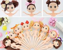 5pcs lot Dress doll cake baking screen flowers wedding dress skirt beaded handmade design confused doll