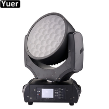 Купить с кэшбэком Profesional DJ Stage Lighting 37x20W LED RGBW 4IN1 Zoom Wash Moving Head Lights For DJ Disco Party Music Vocal concert Equipment