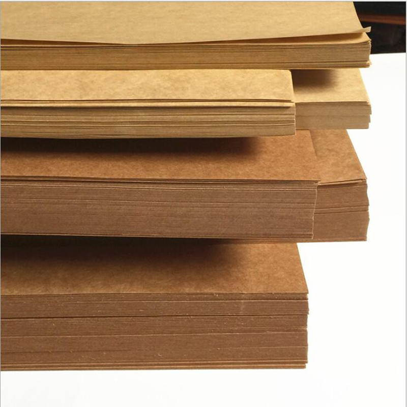 <font><b>100gsm</b></font> 100pcs A4 Brown Kraft <font><b>Paper</b></font> DIY Card Making Craft <font><b>Paper</b></font> High quality Thick Paperboard Cardboard image