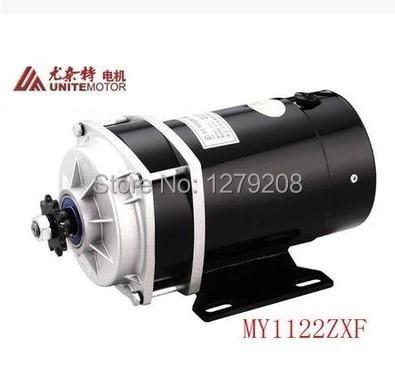 MY1122ZXF 650W 36V DC kartáčový převodový motor, elektrický motor kola