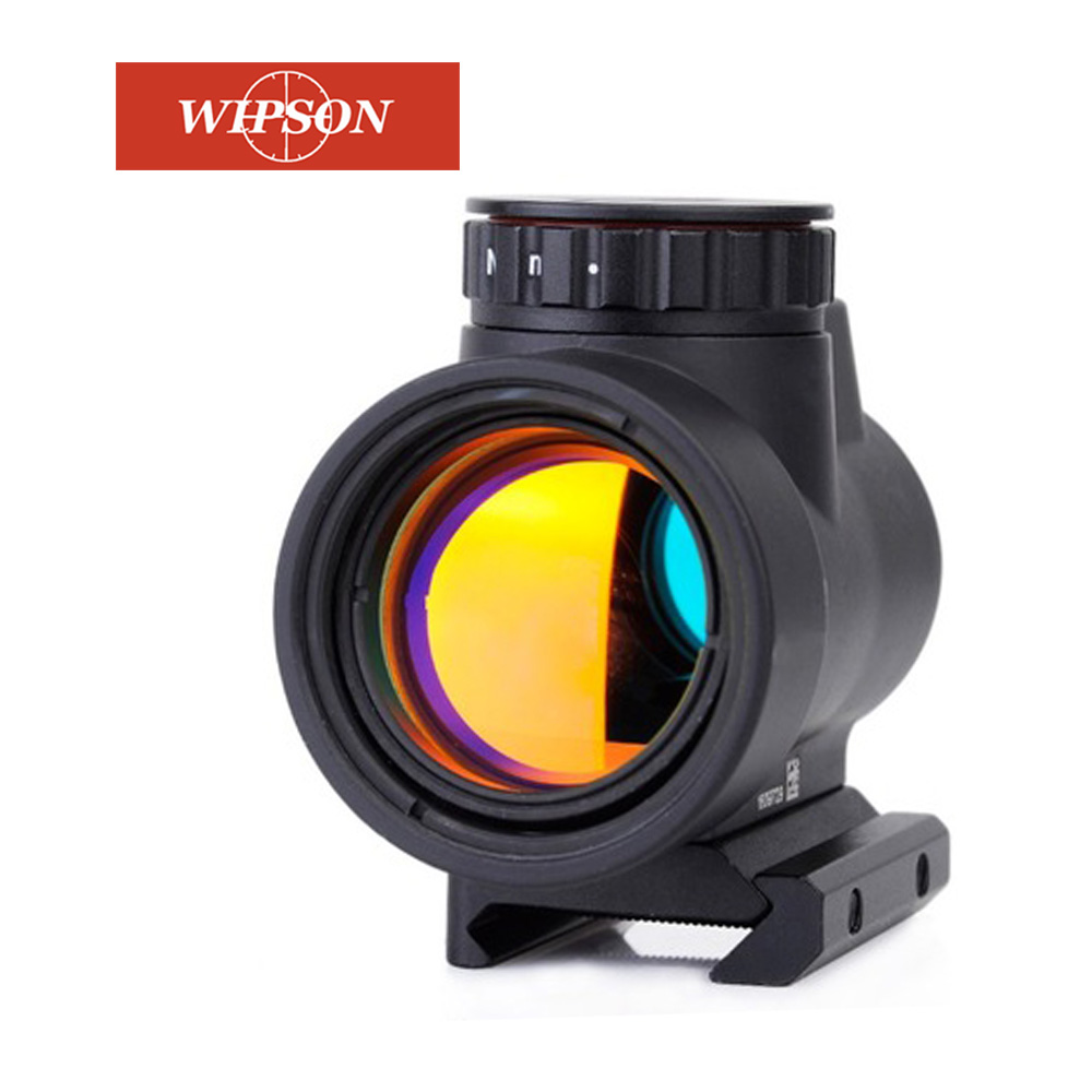 WIPSON Tactical 1X25 MRO Reflex-Style 2.0 MOA Adjustable Red Dot Sight Scope Mount Fit Picatinny Rail -Black