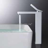 DHL Shipping 1PCS White/Black Color Bathroom Faucet Basin Faucet Sink Faucet Torneira Vanity Mixer Tap Cold Hot Water JF1691