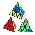Pyramid Pyraminx Magic Cube Puzzle Cubes Education Learning Toys Gift Children