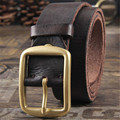 Cowhide Genuine Leather Belts men brand Strap male pin buckle fancy vintage  jeans strap male cintos masculinos ceinture homme 3