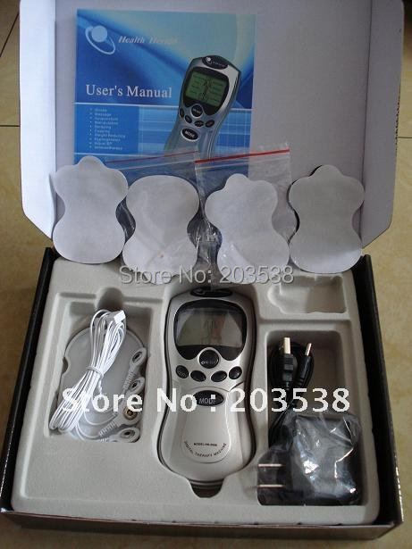 With Retail Box Acupuncture/ Tens Digital Therapy Machine Massager electronic pulse massager health care equipment tens acupuncture electric digital therapy neck back machine massage electronic pulse full body massager health care equipment