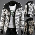 2017 New winter windproof hoodies sweatshirt 2 colors jacket camouflage jackets men korean outwear coat zipper sweateshirt