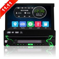 1Din Car stereo with DVD CD Player Bluetooth Car Stereo 7 inch Capacitive Touch Screen Support Detachable Front Panel SWC AM FM