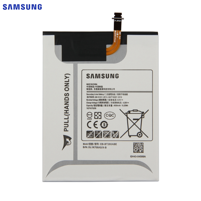 SAMSUNG Original Replacement Battery EB BT280ABE For Samsung GALAXY Tab A 7 0 T280 T285 SM T280 4000mAh Tablet Battery in Mobile Phone Batteries from Cellphones Telecommunications
